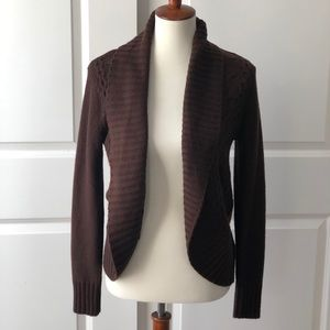 Like New Dk Brown Open Front Cardigan